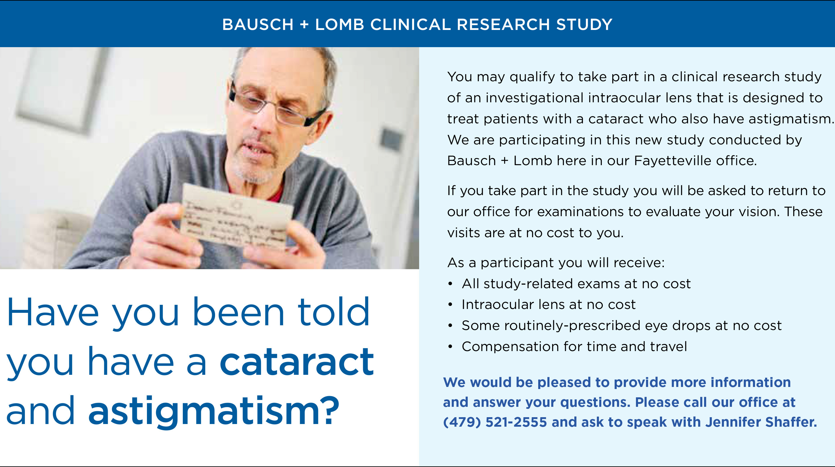 Bausch + Lomb Research Study Infographic